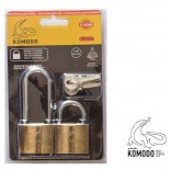 Λουκέτα Ασφαλείας 38ΜΜ Σετ x 2 Komodo