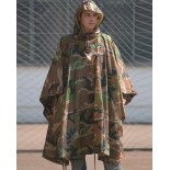 Wet weather poncho ripstop woodland Mil-Tec