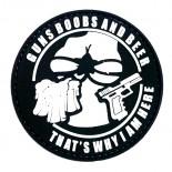 Σήμα Beers & Guns Καουτσούκ Black